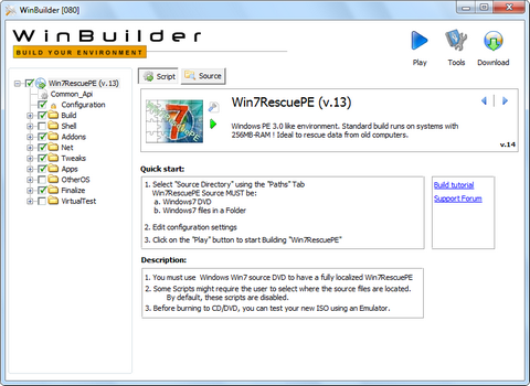 Build a Window 7 PE Boot disk with WinBuilder | Showing My Geek